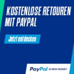 Kostenlose Rücksendung - dank Kostenübernahme durch PayPal