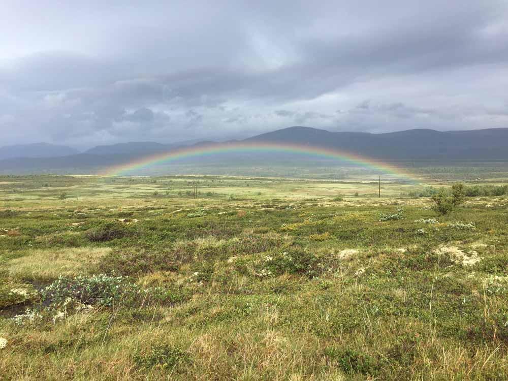 Regenbogen Fjell Olavsweg