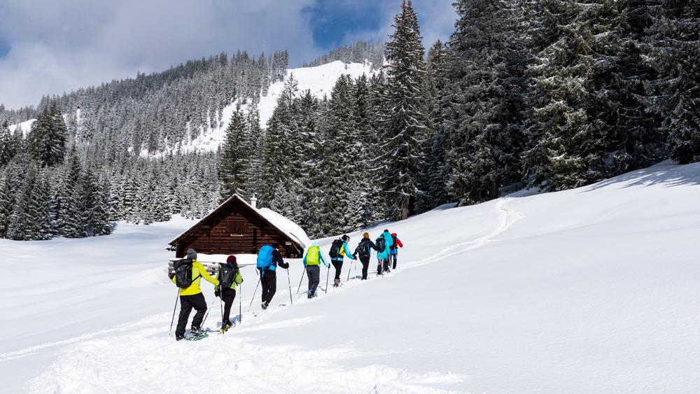 Schneeschuhwandern Rucksack