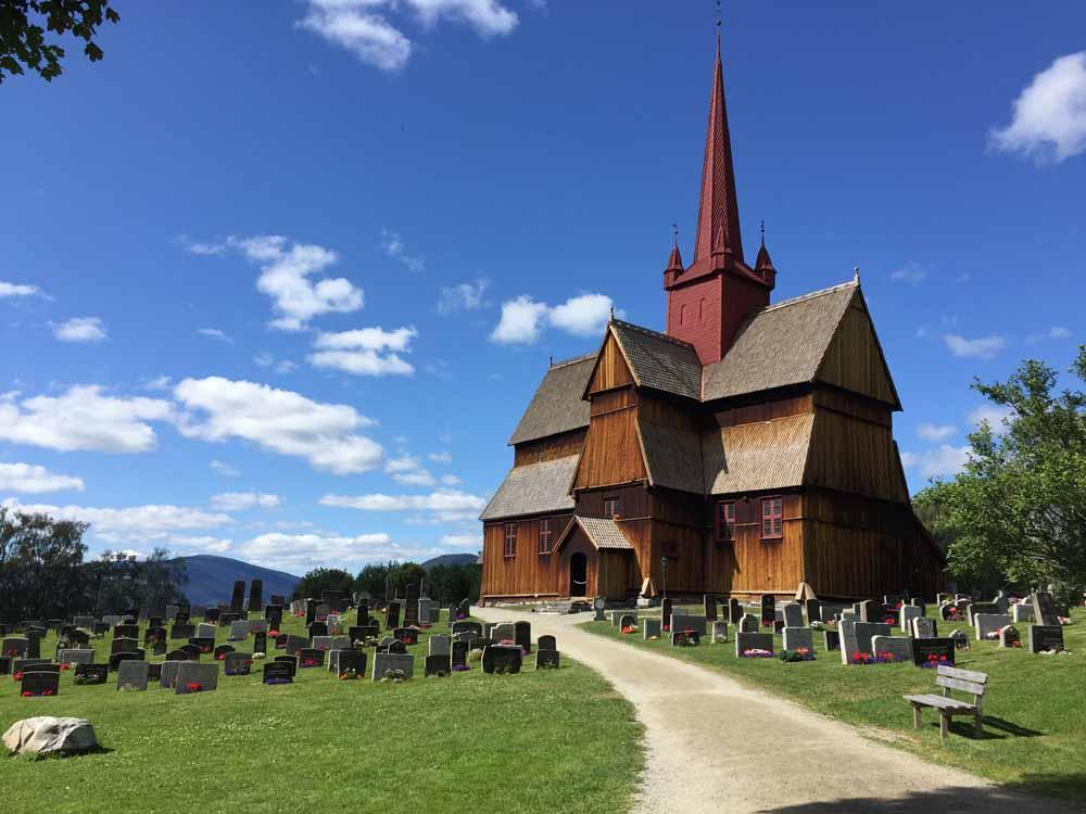 Stabkirche Olavsweg Norwegen