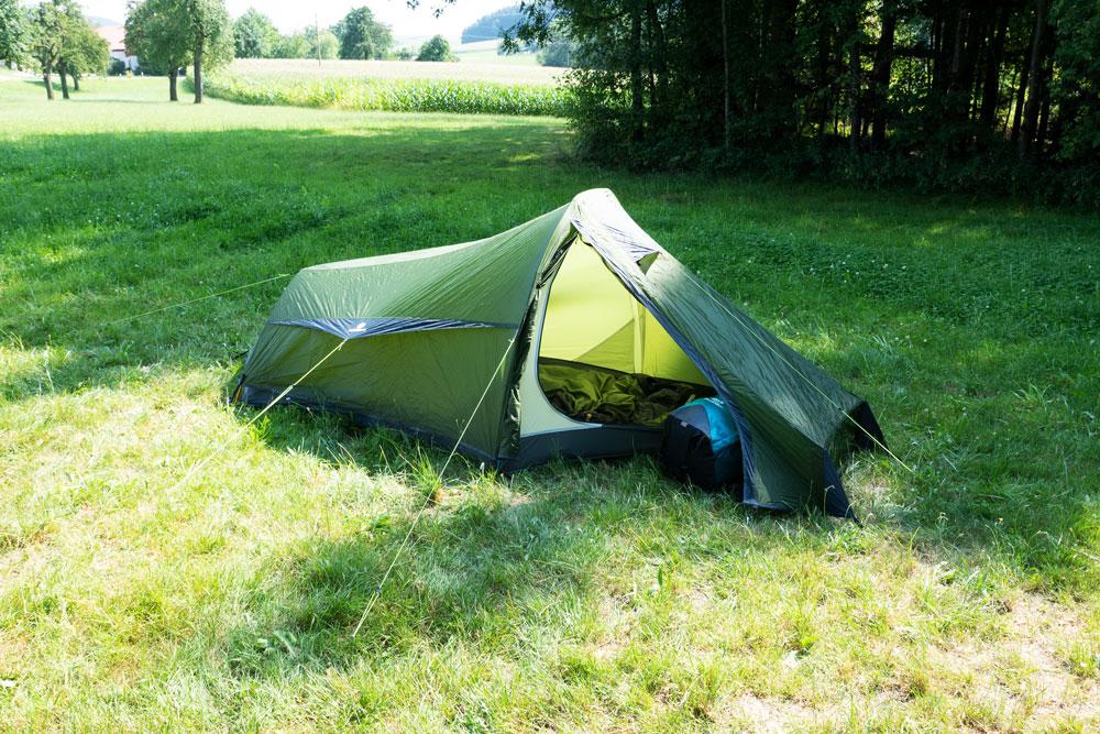 outdoorer Trek Escape als Jakobsweg Zelt