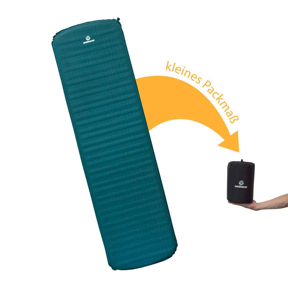 selbstaufblasende isomatte ultraleicht 5cm kleines. Black Bedroom Furniture Sets. Home Design Ideas