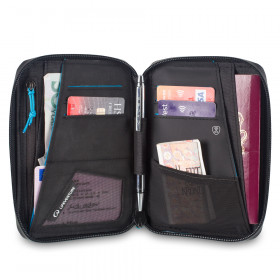 RFID Geldbörse für Pass und Kreditkarten auf Reisen