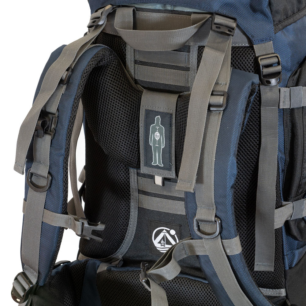 Trekking-Rucksack 50L Reiserucksack Handgepäck Tourenrucksack Tour Bag 50 blau