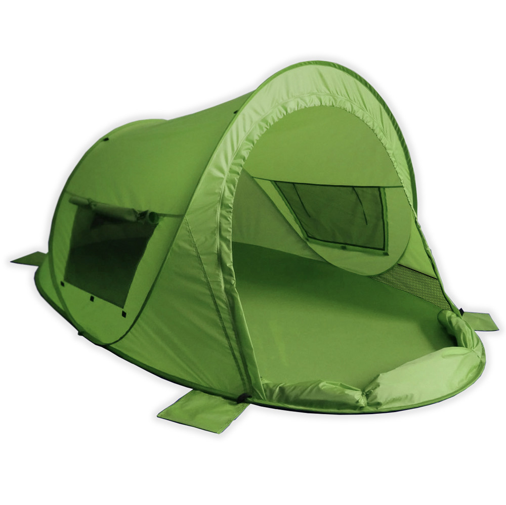 verschließbare Pop up Strandmuschel Zack Premium grün