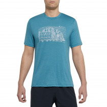 100% Merino Print T-Shirt Herren von Thermowave