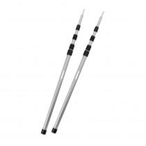 outdoorer PackSmall Tarp Poles Aufstellstangen - 2 Aluminium Teleskopstangen, ultraleicht & kleines Packmaß