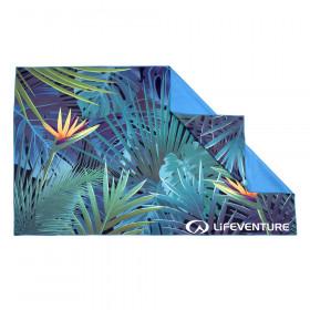 Großes Microfaser Badetuch mit tropischem Print - 150 x 90 cm