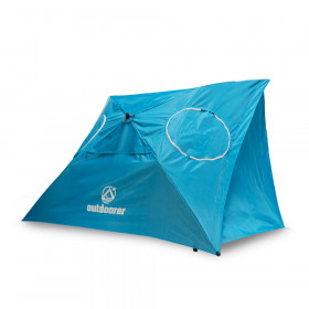 Strandschirm Sombrello – Wind- und Sonnenschutz, UV-Schutz, besonders stabil, 2 Fenster mit Moskitonetz