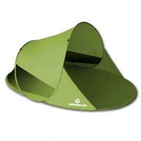 outdoorer Pop Up Strandmuschel Zack II - grün, selbstaufbauend, mit Moskitonetz