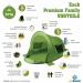 Zack Premium Family Pop up Strandmuschel verschliebar - Vorteile