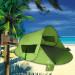 Strandmuschel Zack Premium, grün auf Sand
