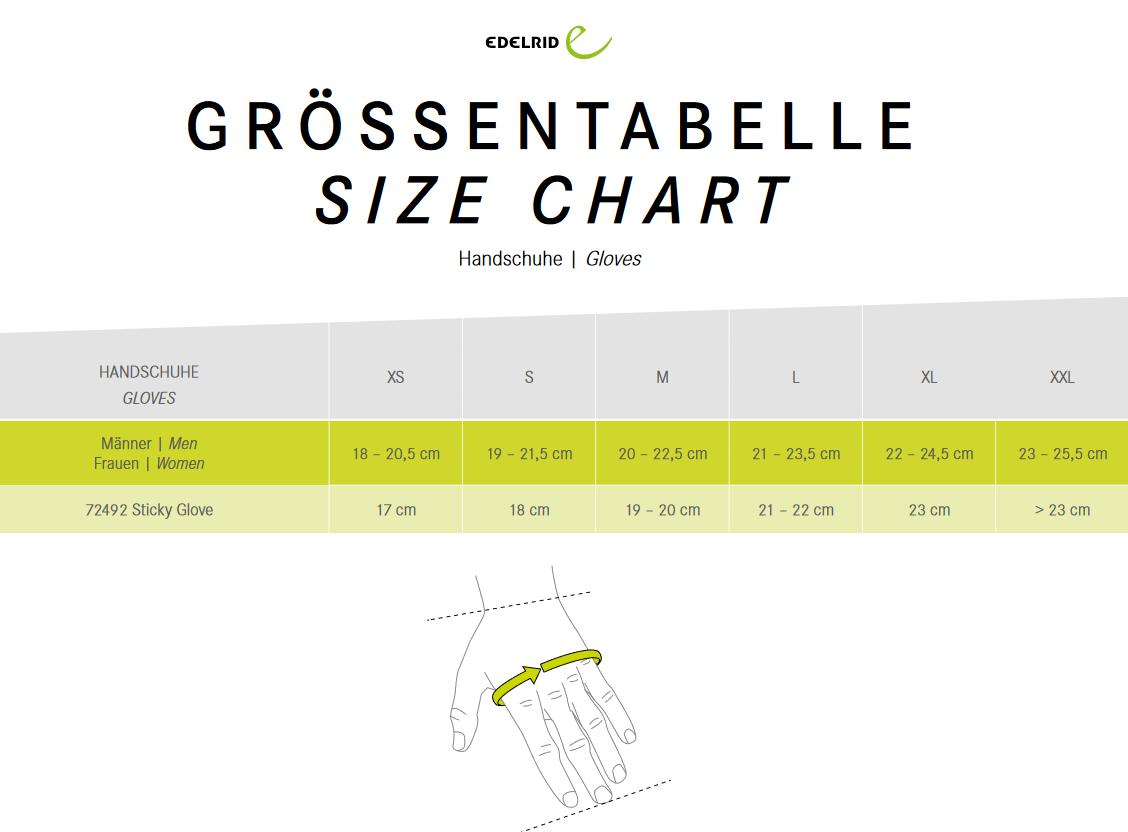 Groessentabelle-Handschuhe